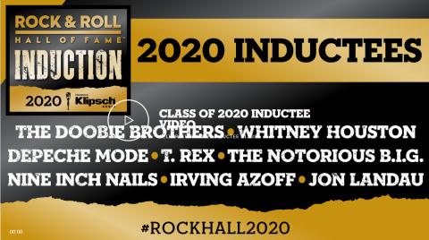 Rock and Roll Hall of Fame 2020 beiktatási ceremónia