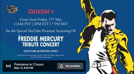 Freddy Mercury-emlékkoncert 1992 ingyen a YouTube-on